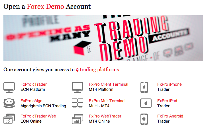 Open demo account for forex trading