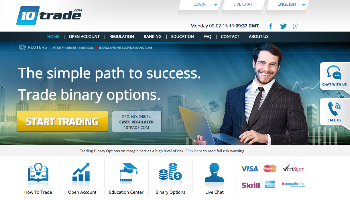 Fsa regulated binary options broker