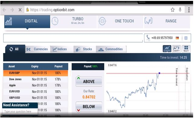 Optionbit mobile trading