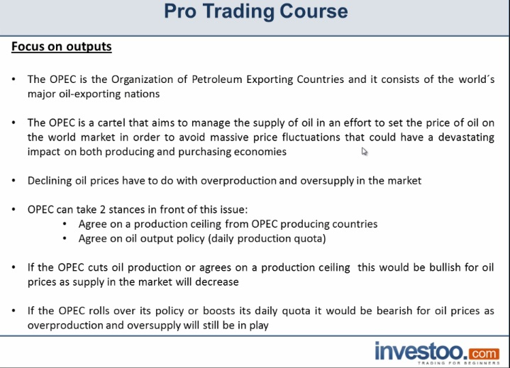 Crude Oil: OPEC Production Policies | Investoo com - Trading